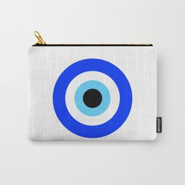 Evil Eye White Carry-All Pouch