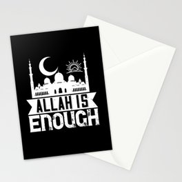 Islam - Allah Is Enough Stationery Cards