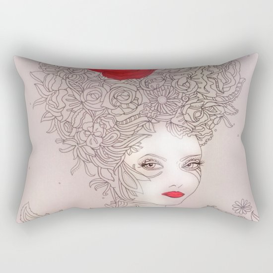 Rose in hair Rectangular Pillow