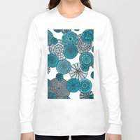 planets Long Sleeve T-shirts featuring Blue Planets by sinonelineman