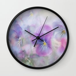 little pansies Wall Clock