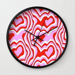 vintage fantasy psychedelic love Wall Clock