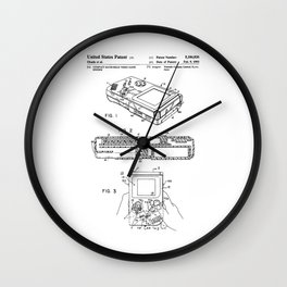 Gameboy Patent Wall Clock