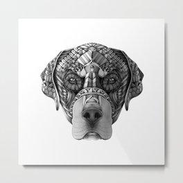 Ornate Rottweiler Metal Print