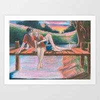 burdge Art Prints featuring Light Outside by Burdge