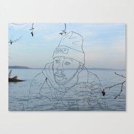 tyler & the sea Canvas Print