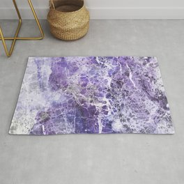 Organic Purple Abstract Marble Rug