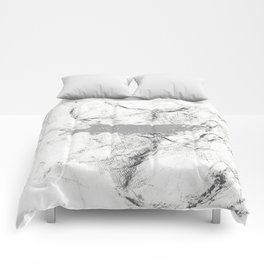 pike in the net (black and white) Comforters