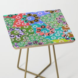 Summer Daisy Patch Side Table