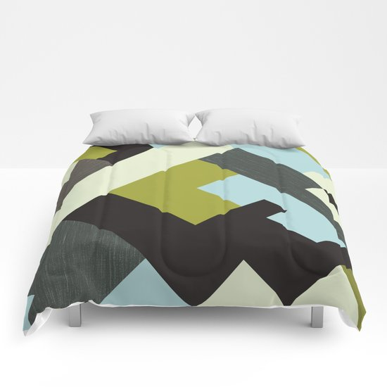 Rectangular geometric Comforters