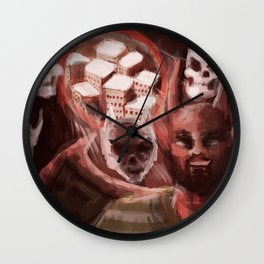 the demon in the portal Wall Clock