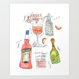 Italian Spritz Art Print