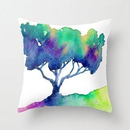 Hue Tree III Throw Pillow