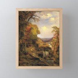 On The Wissahickon Near Chestnut Hill 1870 By Thomas Moran   Philadelphia Scenic Reproduction Framed Mini Art Print