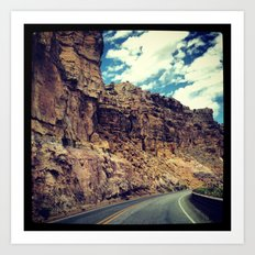 On our way to Santa Fe... Art Print