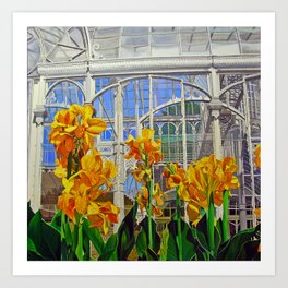 Victorian Greenhouse Art Print