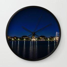 Clear Night in Copenhagen Wall Clock