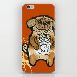 Pug Suit iPhone Skin