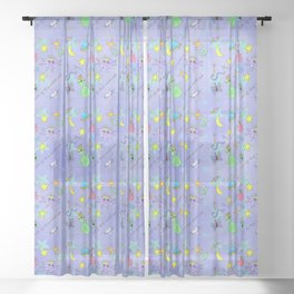 Space Princesses Sheer Curtain