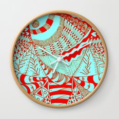 Elephant Butterfly Collection Wall Clock
