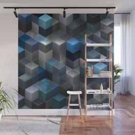 Artistic Cubes 09 blue Wall Mural