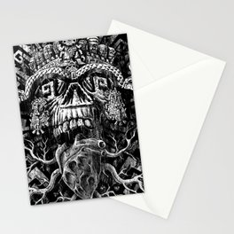 Aztec Skull Stationery Cards