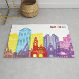 San diego skyline pop Rug