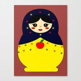 Snow White Nesting Doll Canvas Print
