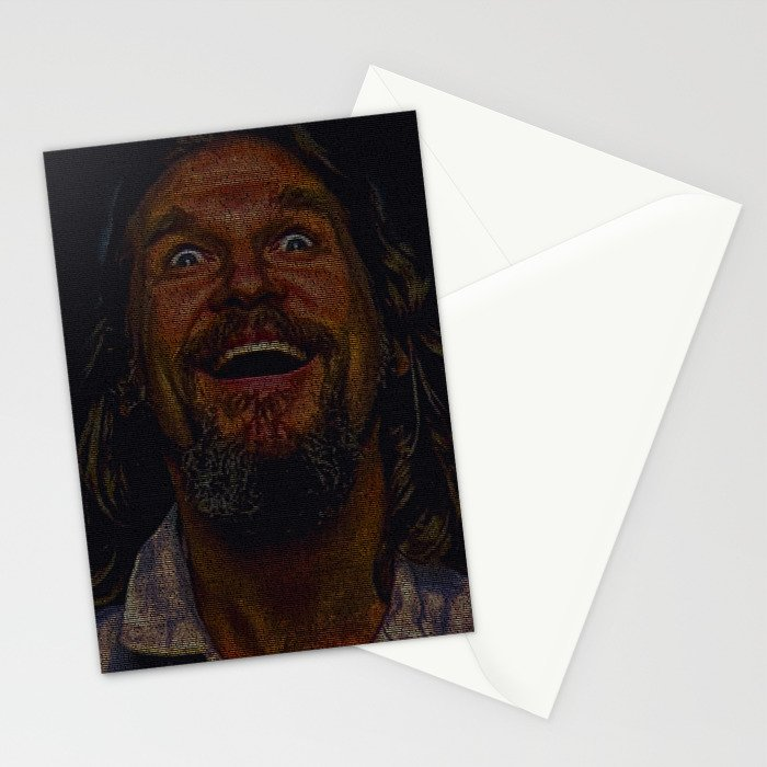 The Dude (Lebowski Screenplay print) Stationery Cards