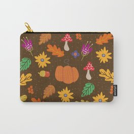 Autumn Fall Leaves Flower Pattern Carry-All Pouch