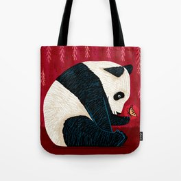 The Panda and the Butterfly Tote Bag
