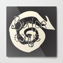 Burtonesque Swirl Metal Print