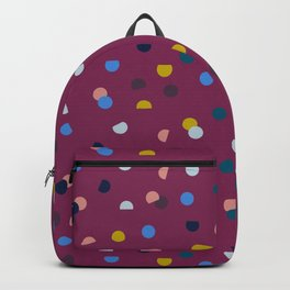 Purple Confetti Spot Backpack