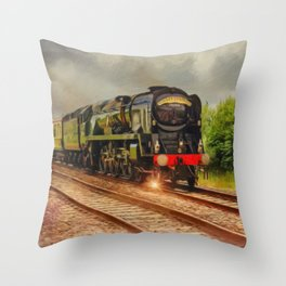 Torbay Express, Steam Engine Throw Pillow