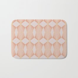 geometry art decó in pink and mauve Bath Mat