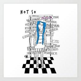 T & Eris - NOT SO FRAGILE Art Print
