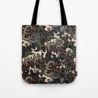 military Tote Bags featuring Military pattern by Julia Badeeva