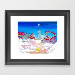 Sunset vine, She Framed Art Print