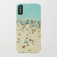 monkey island iPhone & iPod Cases featuring Coney Island Beach by Mina Teslaru