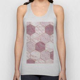 Deep rose marble honeycomb Unisex Tank Top