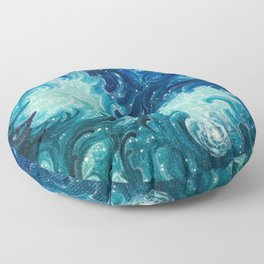 Blue Magic Floor Pillow