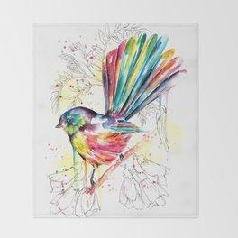 Vibrant Fantail Throw Blanket
