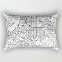 Taipei White Map Rectangular Pillow