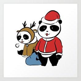 Panda claus Art Print