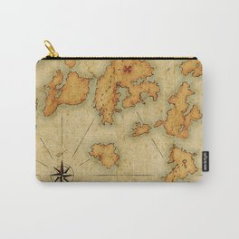 Treasure Island Old Map Carry-All Pouch