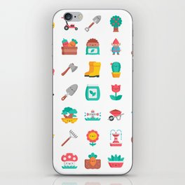 CUTE GARDENING PATTERN iPhone Skin