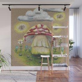 Magical Mushroom Wall Mural