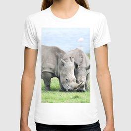 African White Rhino at Lake Nakuru in Kenya T-shirt