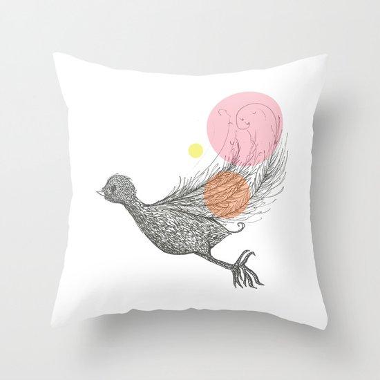 Bird with Own Feather Throw Pillow