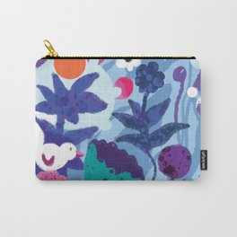 Bird and Dog in Blue Garden Carry-All Pouch